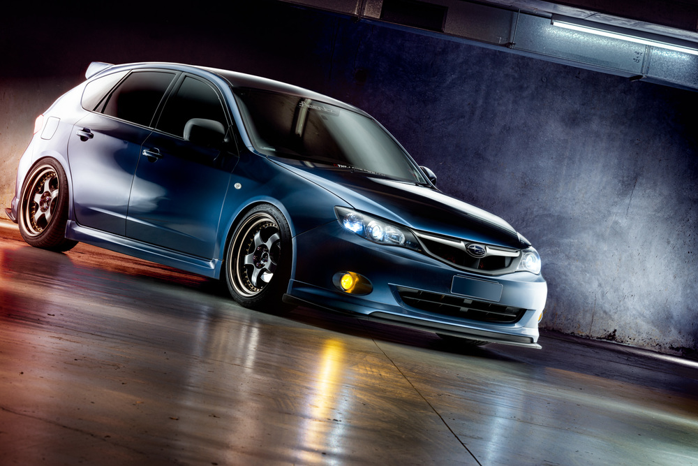 Light Painting - Subaru Impreza RS blue