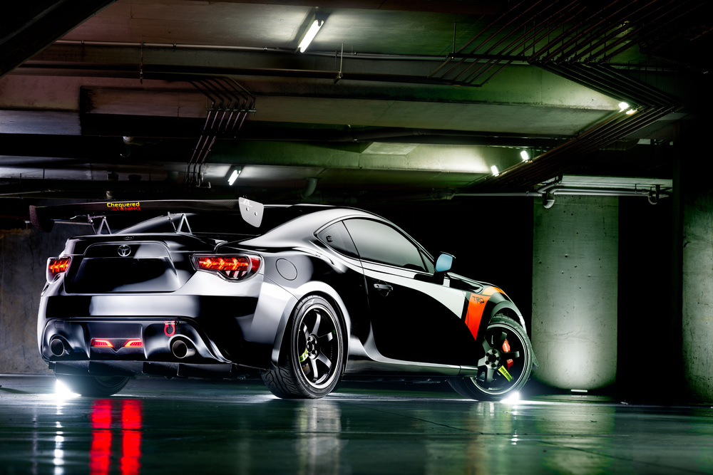 Light Painting - Toyota GT86 black