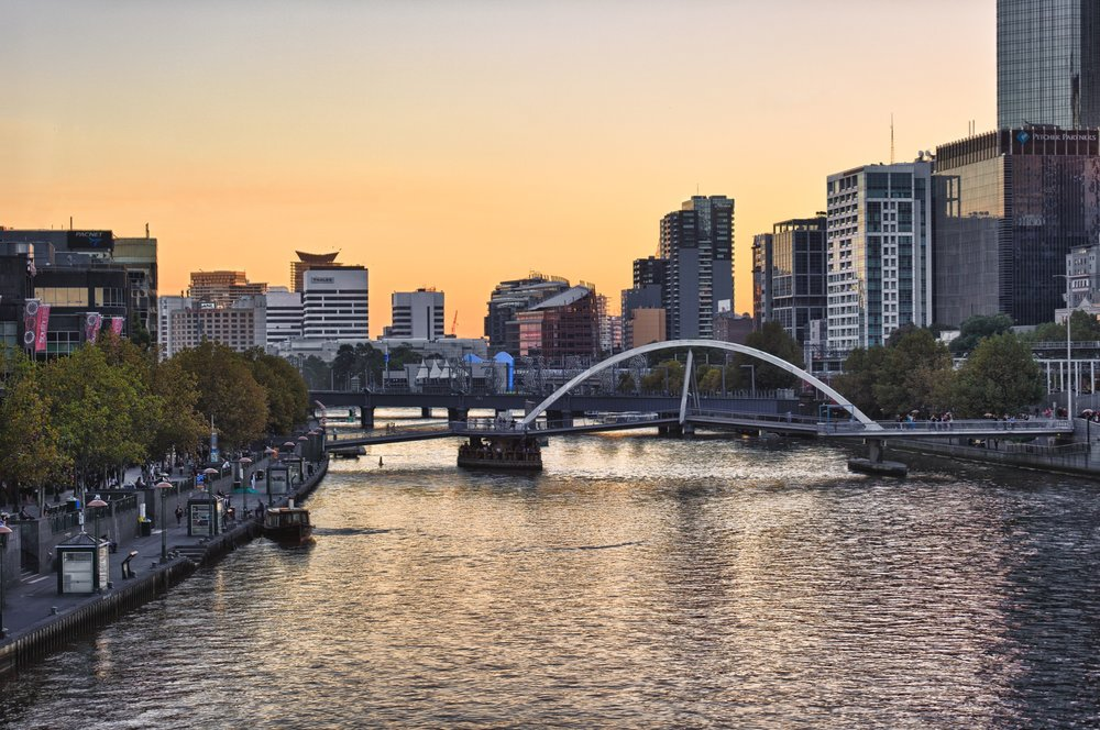 The Yarra, in orange