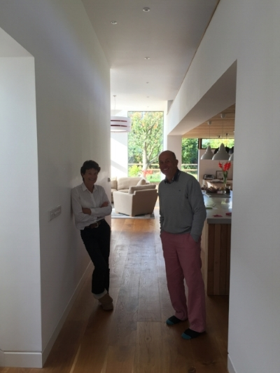 Clive and Jeanne in they new home