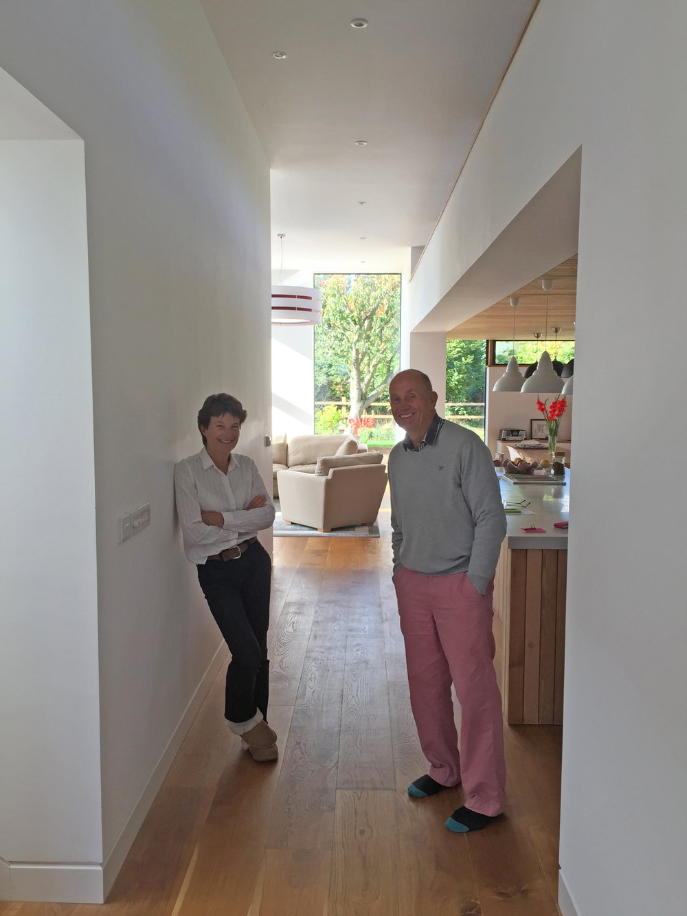 Clive and Jeanne in their new home