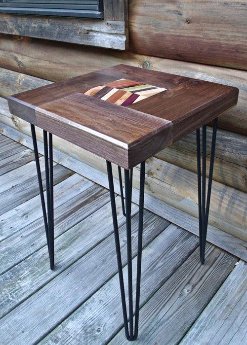3 rod hairpin bench and table legs blue ridge metal works rh blueridgemetalworks com hairpin table legs 28 hairpin table legs and bases