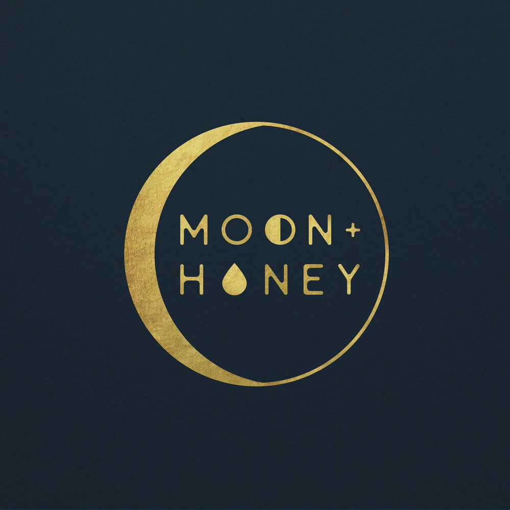 Moon + Honey Logo and Branding