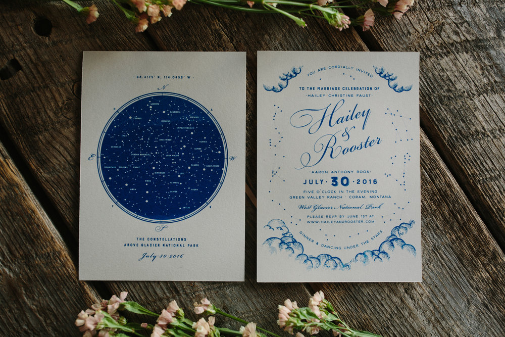 Screenprinted Wedding Invitations