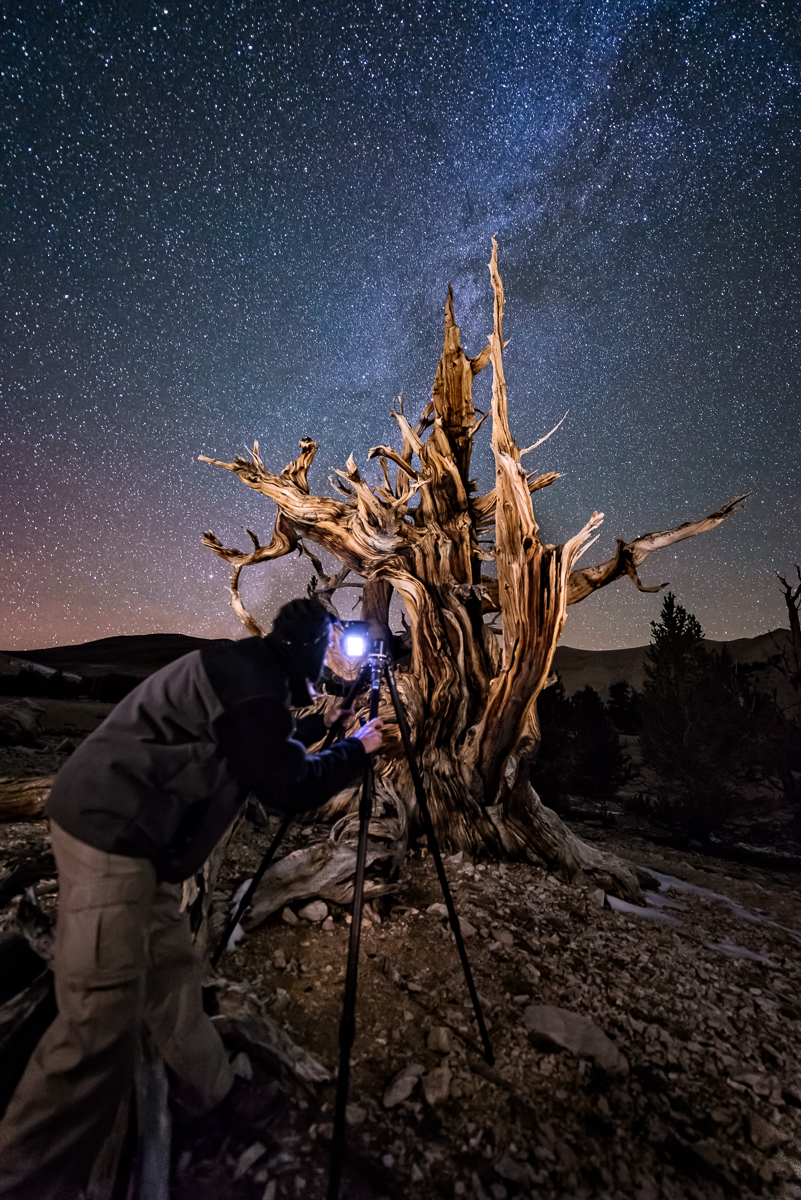 John Eastcott at work.   Technical Details:    Nikon D800, Nikkor 14-24 at f2.8 for 25 seconds at 4000 ISO