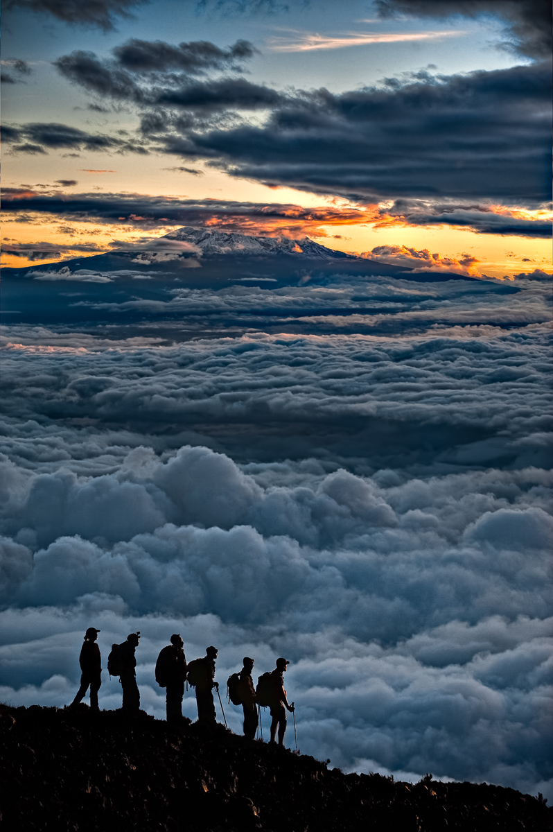 Sunrise Over Kilimanjaro: Technical Details: Nikon D700 Nikkor 70-200VR at F4 for 1/800sec at ISO200