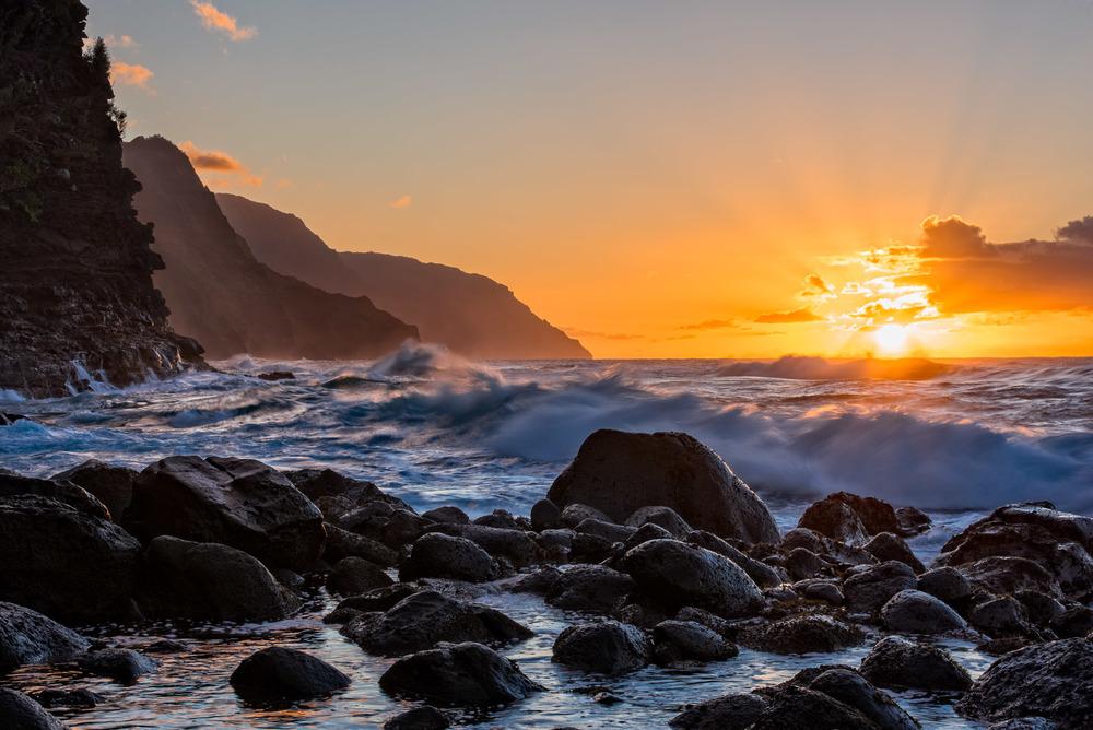 Na Pali Coast: Kauai, Hawaii.