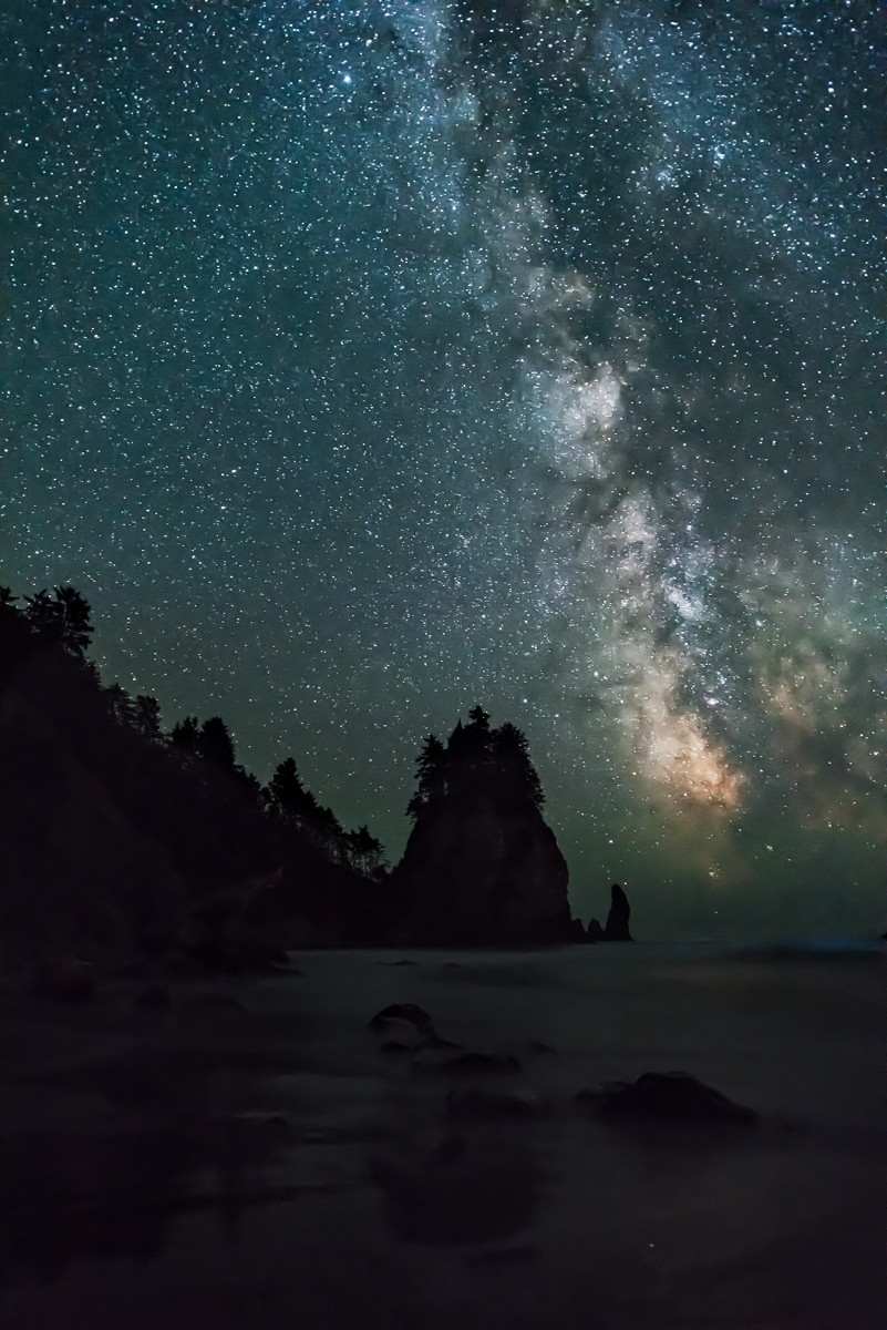 Olympic National Park:    Nikon D810, Nikon 14-24, F2.8 for 20 seconds at 3200 ISO