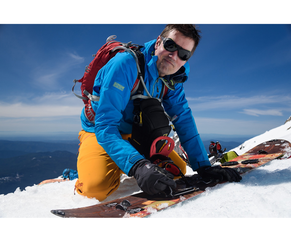 Setting up the Splitboard