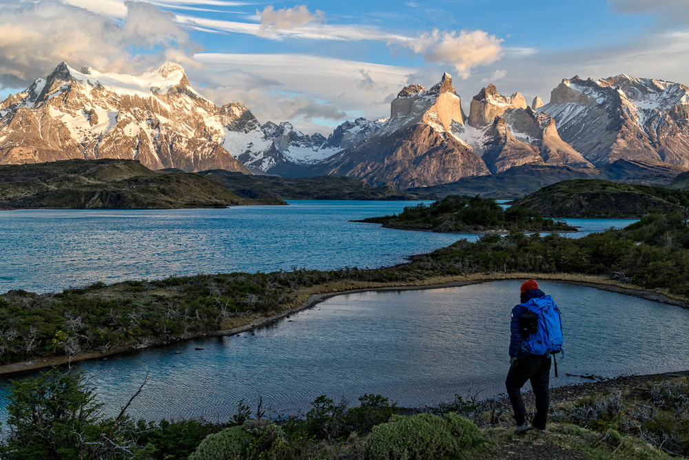 I've seen a lot of gorgeous mountains, but Torres Del Paine? It's something special... (self portrait @ dawn)