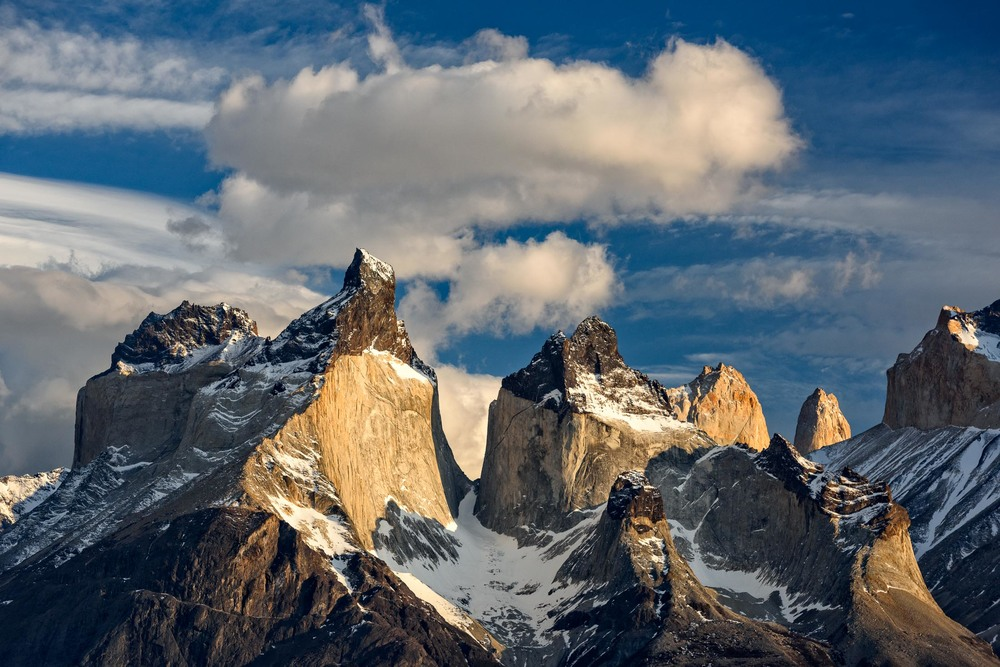 Torres del Paine, Patagonia with Clouds