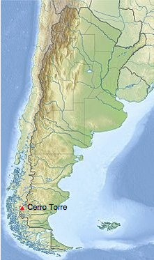 Cerro Torre map.
