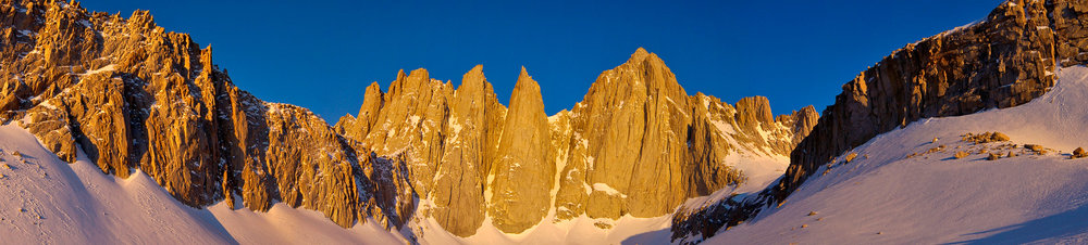 Mount Whitney Panoramic: 3-frames Nikon D70. I'm so excited to head back here in just 2 weeks.