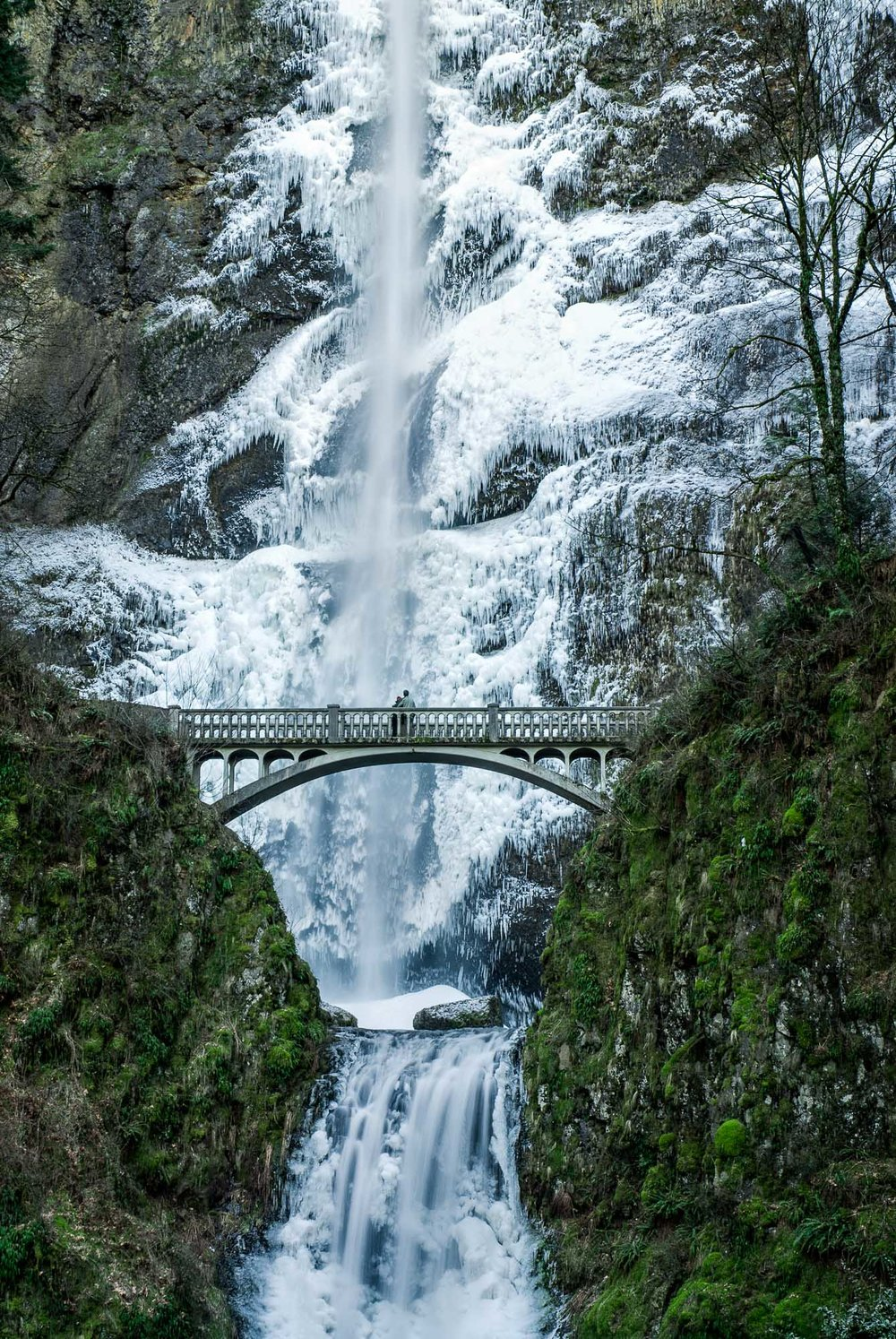 Winter, Multnomah Falls