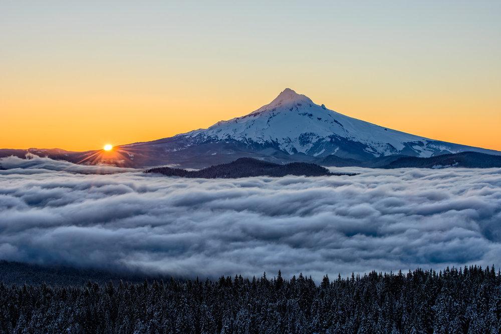 Winter Dawn: Mount Hood