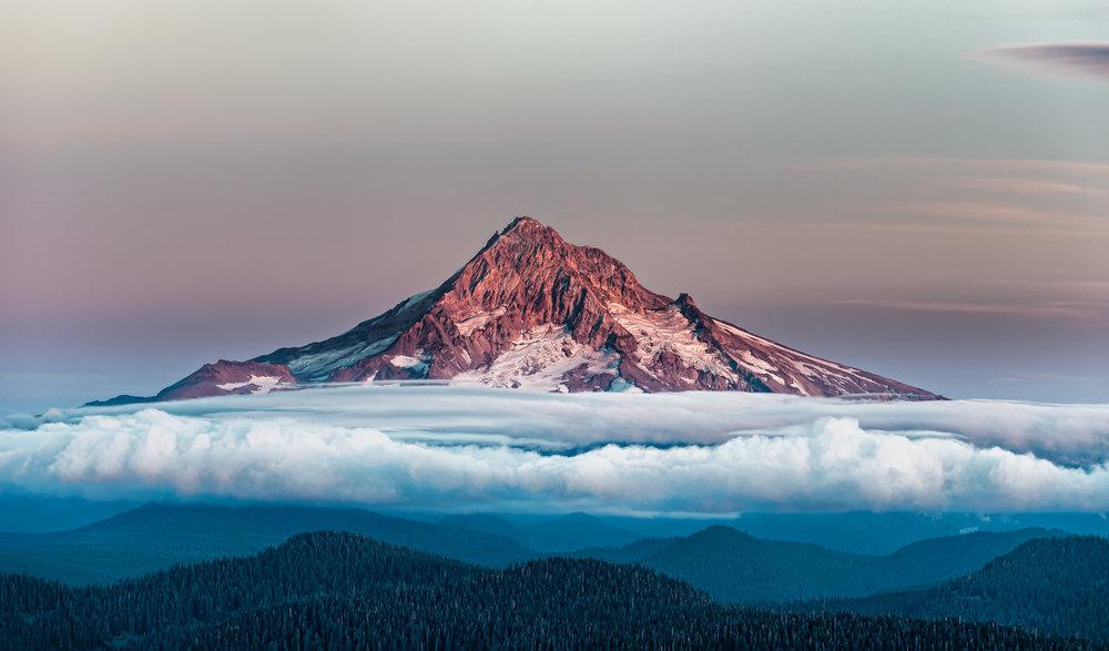 Mt. Hood with Cloud Carpet