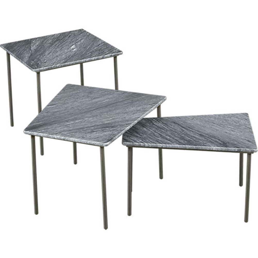 Geo tables cb2 studio warm geometry nesting tables set of 3 corinnawarm04g geotapseo Images