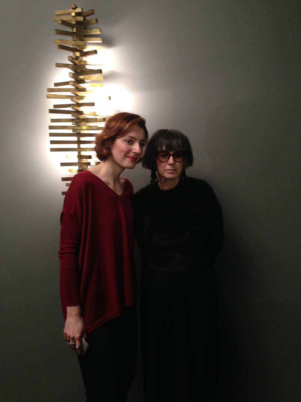 Gallery owner Rebecca Willer and Kety Kuparadze, Director of Galleria Vincenzo de Cotiis, Milan.