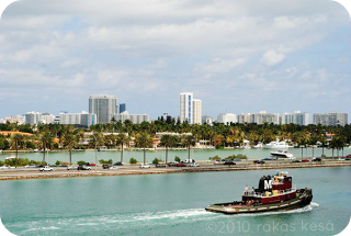 the port of miami from the cruise ship norwegian jewel on my caribbean cruise