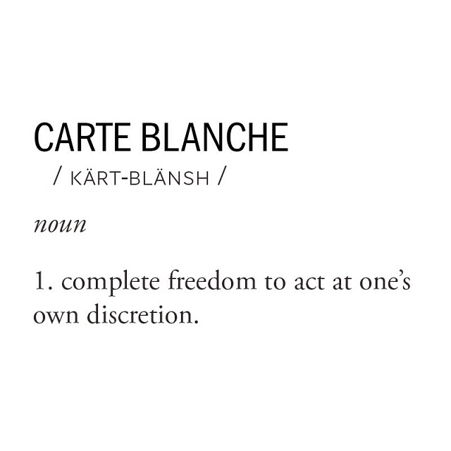 For us, Carte Blanche means having the freedom to re-examine or question the way things are done and change what isn't working. We love fashion and we believe we can do better. Less waste, better quality, and producing only what you love.