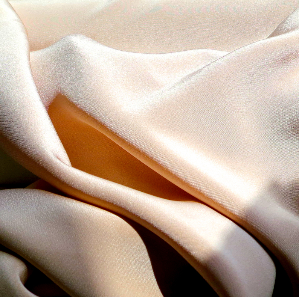 - 2-Ply Silk in blush - This fabric has a substantial weight and offers more structure so you feel covered.
