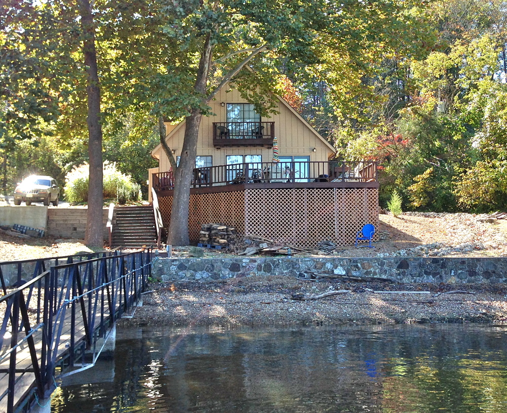 Front of Cottage from Lake