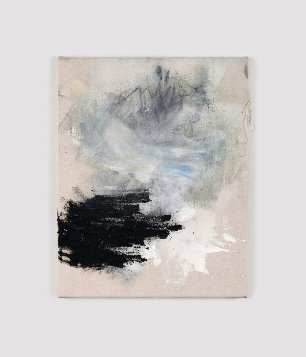 UNTITLED, 2013   oil and spray paint on canvas, 50x40cm