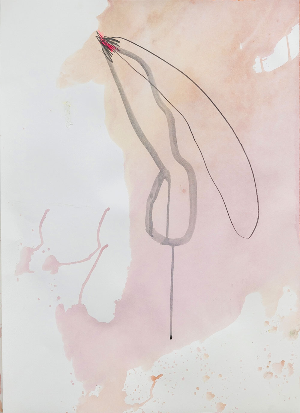 UNTITLED, 2011   pencil and acrylic on paper, 69x49cm