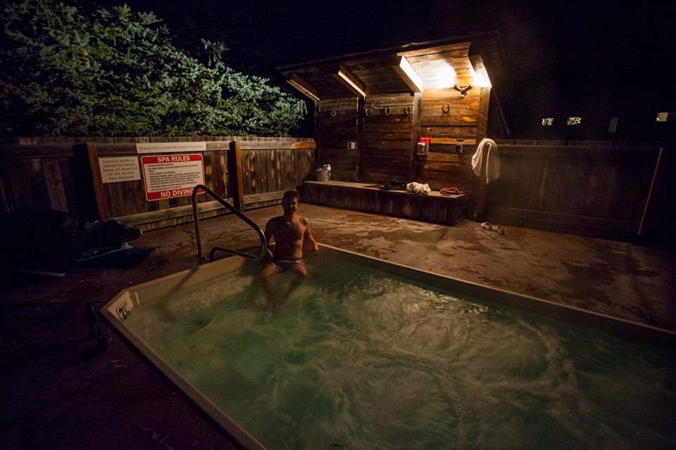 Perfect night for a dip in the hot tub.