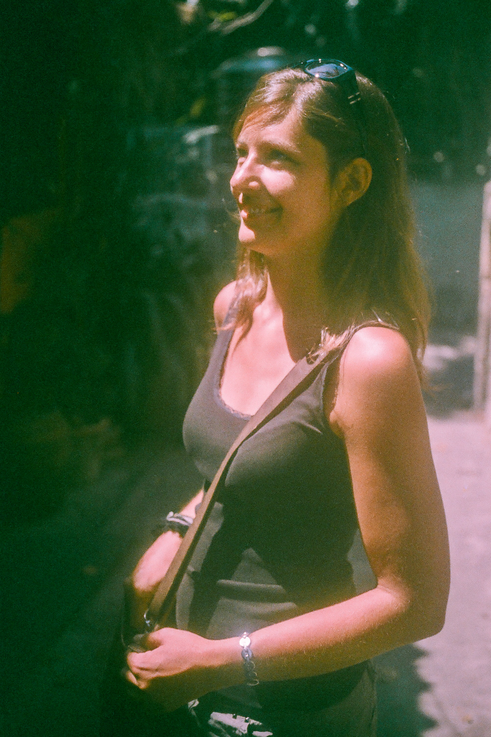 Franziska on the streets of Chiang Mai.
