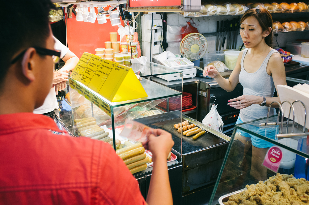 "Known for its ""hawker centers"", although hawking is actually illegal, Singapore's food courts are some of the best in the world."