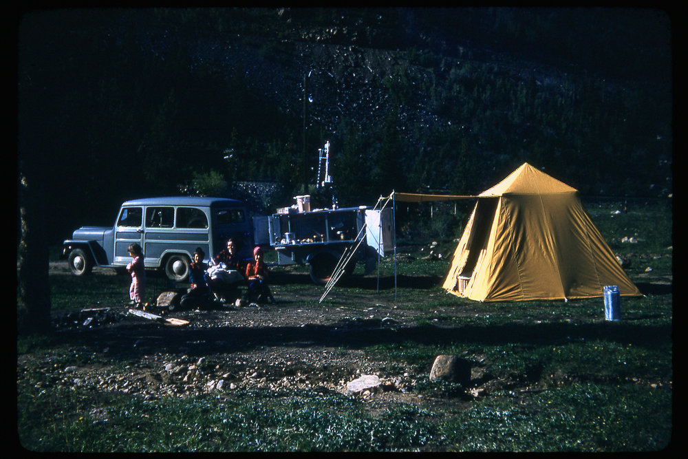 """Camping near Tolland JUN 23 1957"""