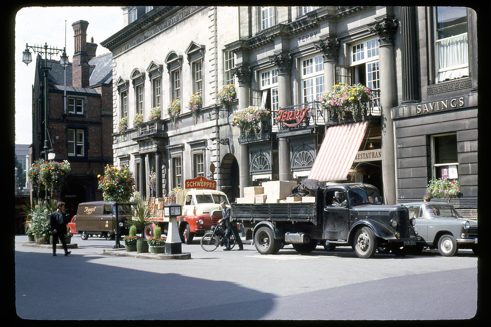 """Flower Boxes - York Englang July 26, 1964"""