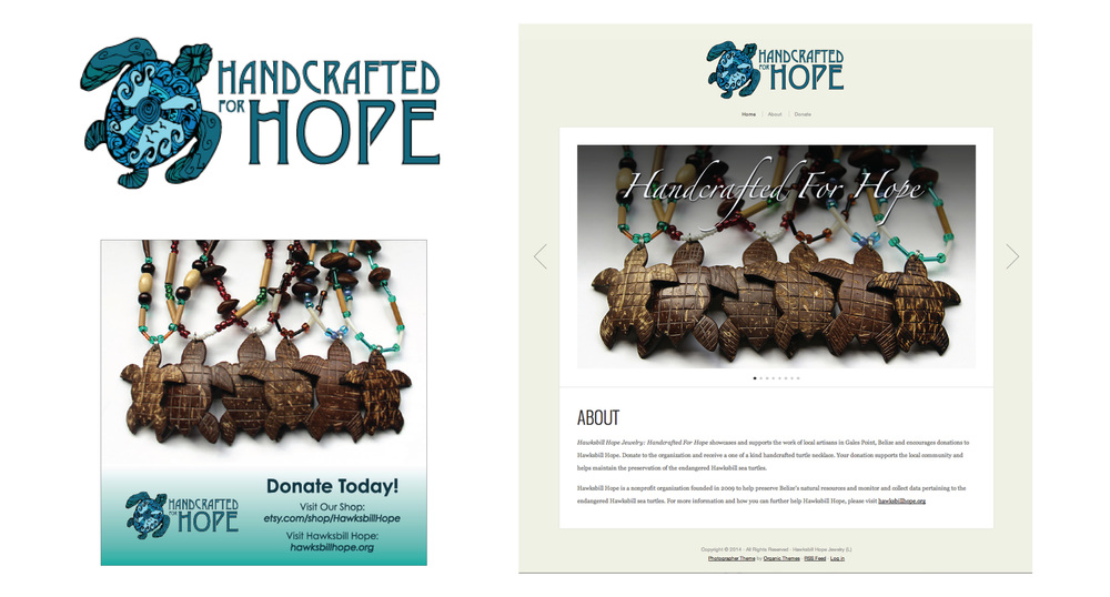 Handcrafted for Hope | Website and eStore