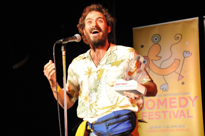D.B.L artist Dr Brown wins the Barry Award at the Melbourne International Comedy Festival, 2012