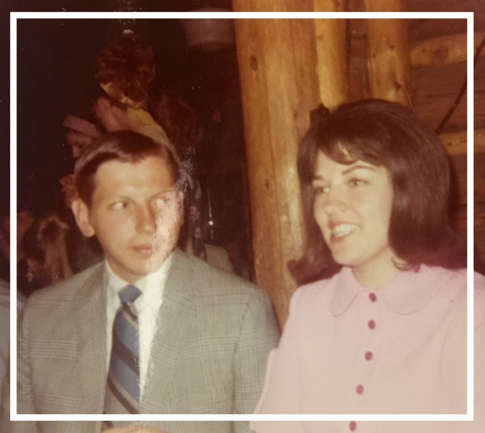 Wayne and Judy in 1970 - End of Camp Banquet