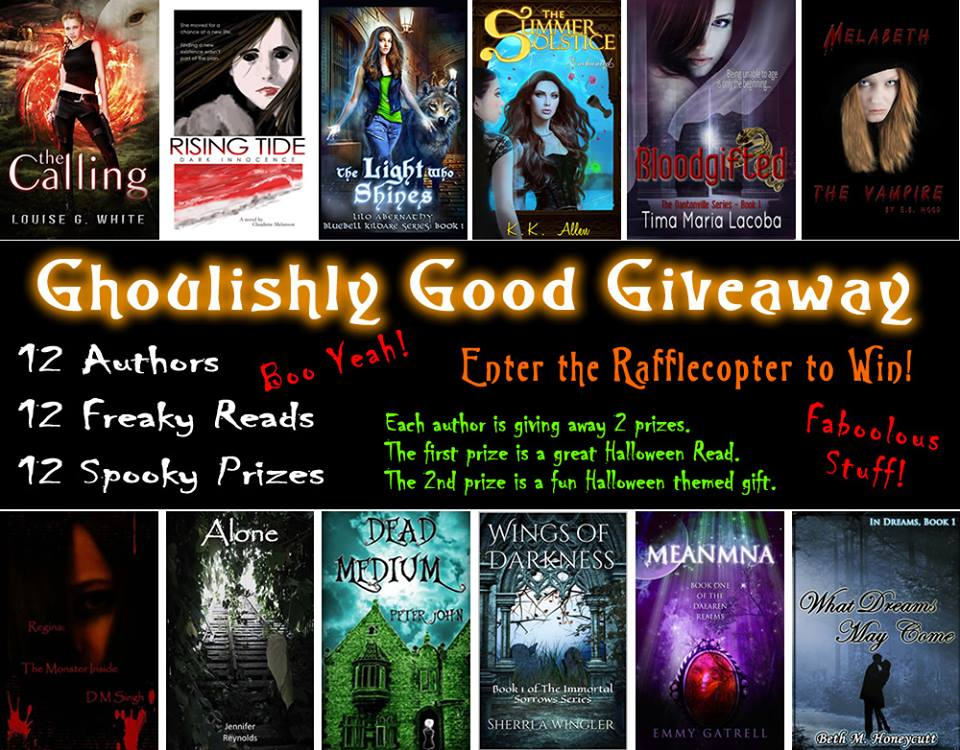 Giveaway ends midnight, October 31st, 2014