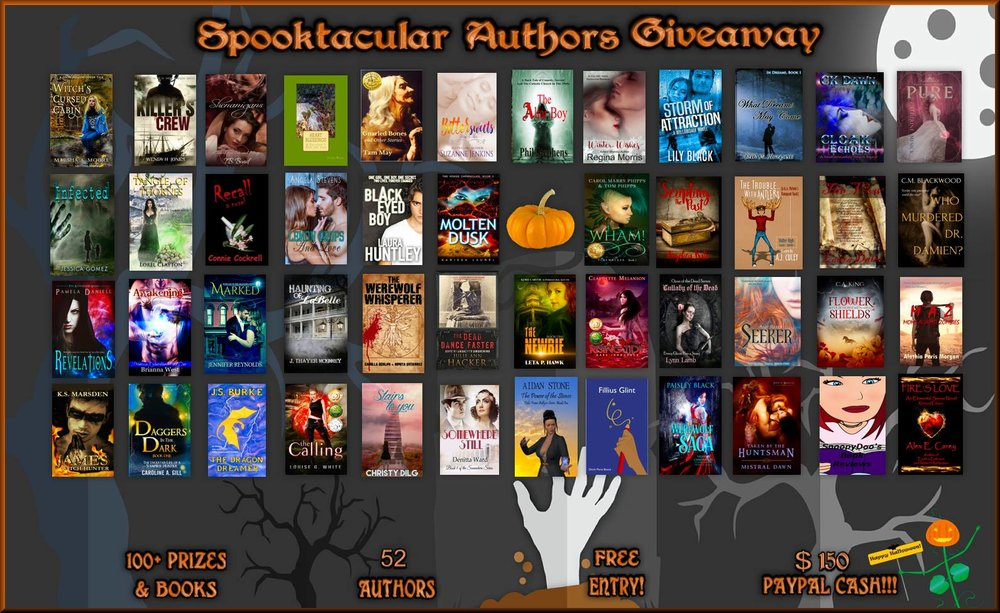 2017 Spooktacular Authors Halloween  #Giveaway  Over 100 prizes: Gift Cards, Books, Tee, Mystery Prizes, Jewelry & More! Grand prize of $150 PayPal Cash!  All treats, no tricks! Enter at:  https://buff.ly/2vWrAqB