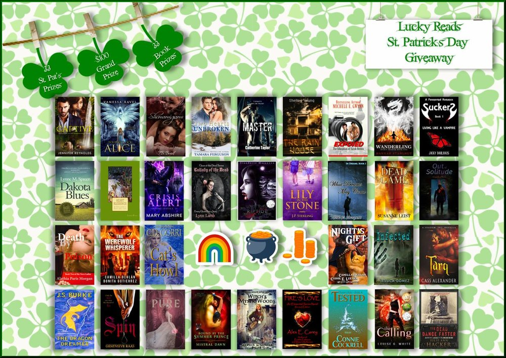2018 Lucky Reads St. Patrick's Day Giveaway  33 Prizes. 33 Books.  $100 Paypal Cash Grand Prize  The link:  http://bit.ly/2EPcjLT