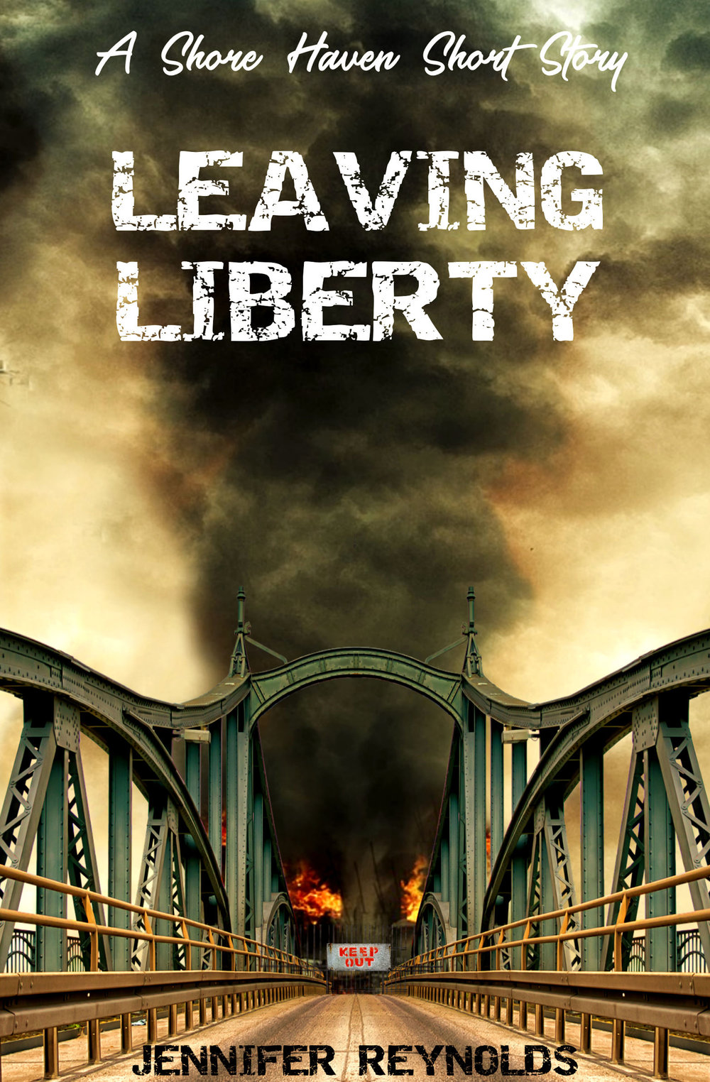 Leaving Liberty: A Shore Haven Short Story  Coming Soon  Sadie refuses to be trapped on a zombie-infested island for the rest of her life. Every day she leaves the safety of the hotel she'd holed up in when the outbreak began to kill the turned and to find a way off the island. Every day she finds nothing but death and destruction…until one day she doesn't.   https://www.goodreads.com/book/show/43474166-leaving-liberty