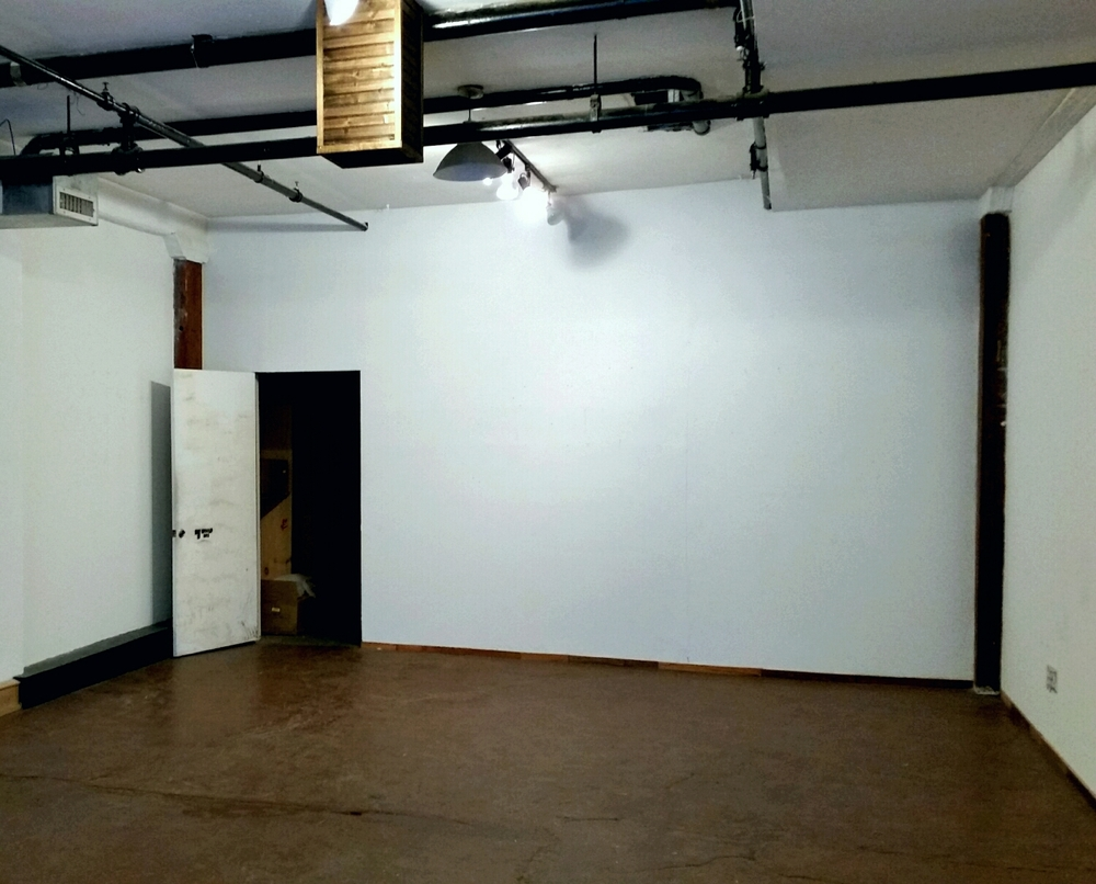 A blank canvas , that's waiting for something to happen . We've been discussing a floor plan for several days now and are ready to begin .