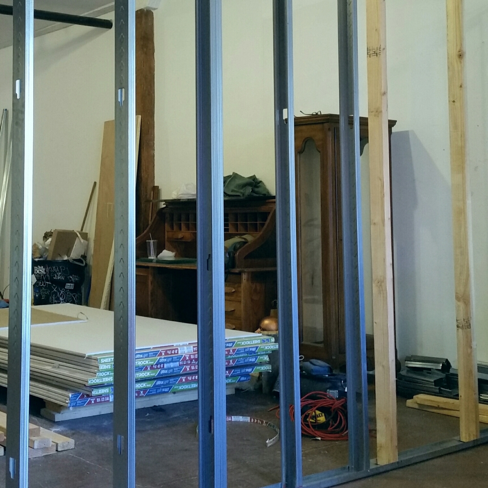 The framing has been going up , and the sheetrock  is following
