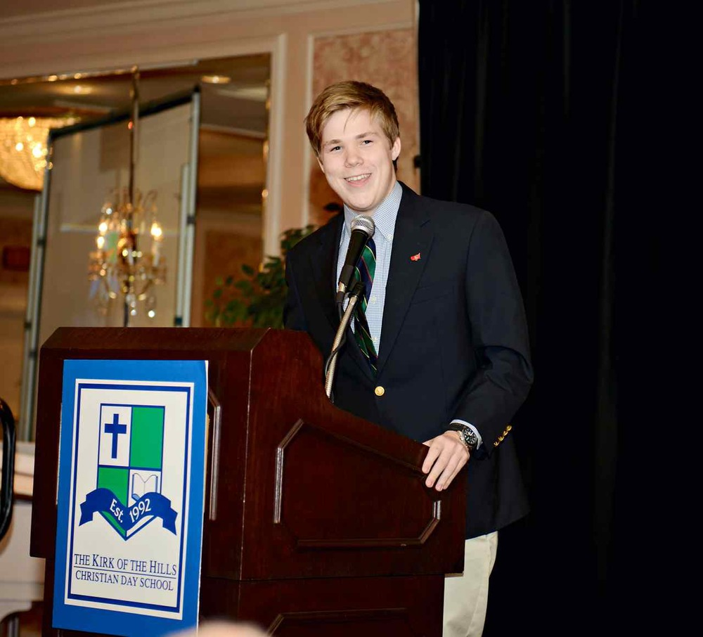 Parker Briden speaking at the 2012 Highland Fling Gala event at the Frontenac Hilton.
