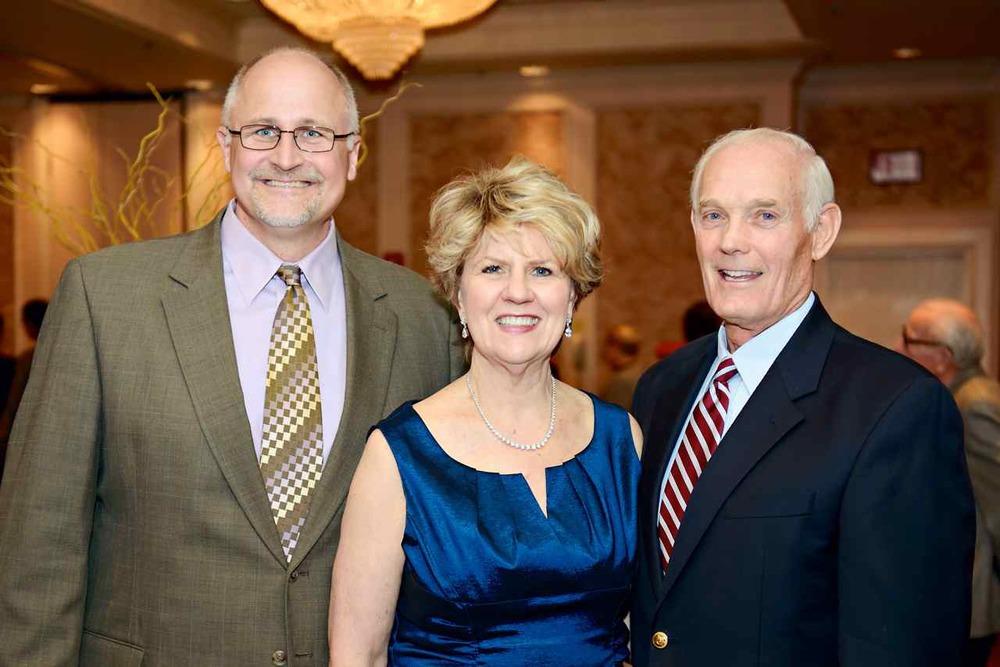past Senior Pastor, Rev. Mark Kuiper; First Head of School Sue Pitzer; Pastor Emeritus Dr. Wilson Benton