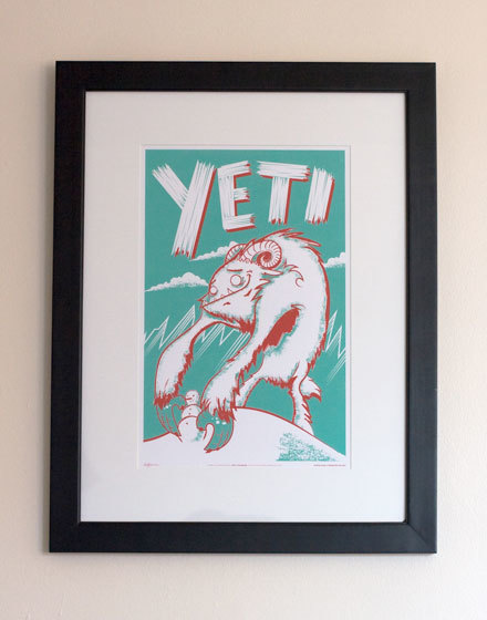 Framed Yeti Monster Friend