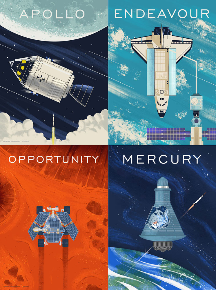 NASA Mercury Space Capsule Poster Print Mercury Mission Space Travel Outer Space