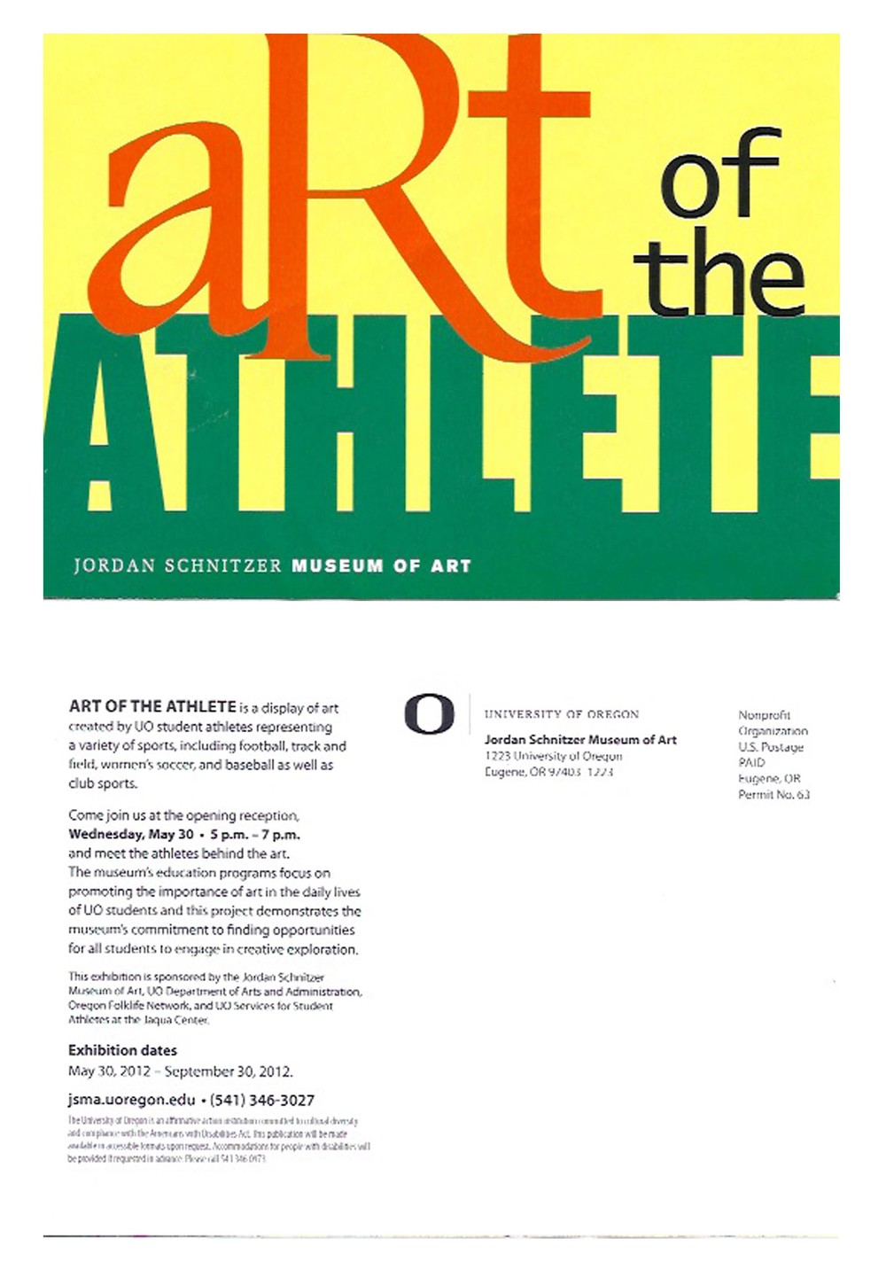 "Postcard for JSMA exhibition ""Art of The Athlete"""