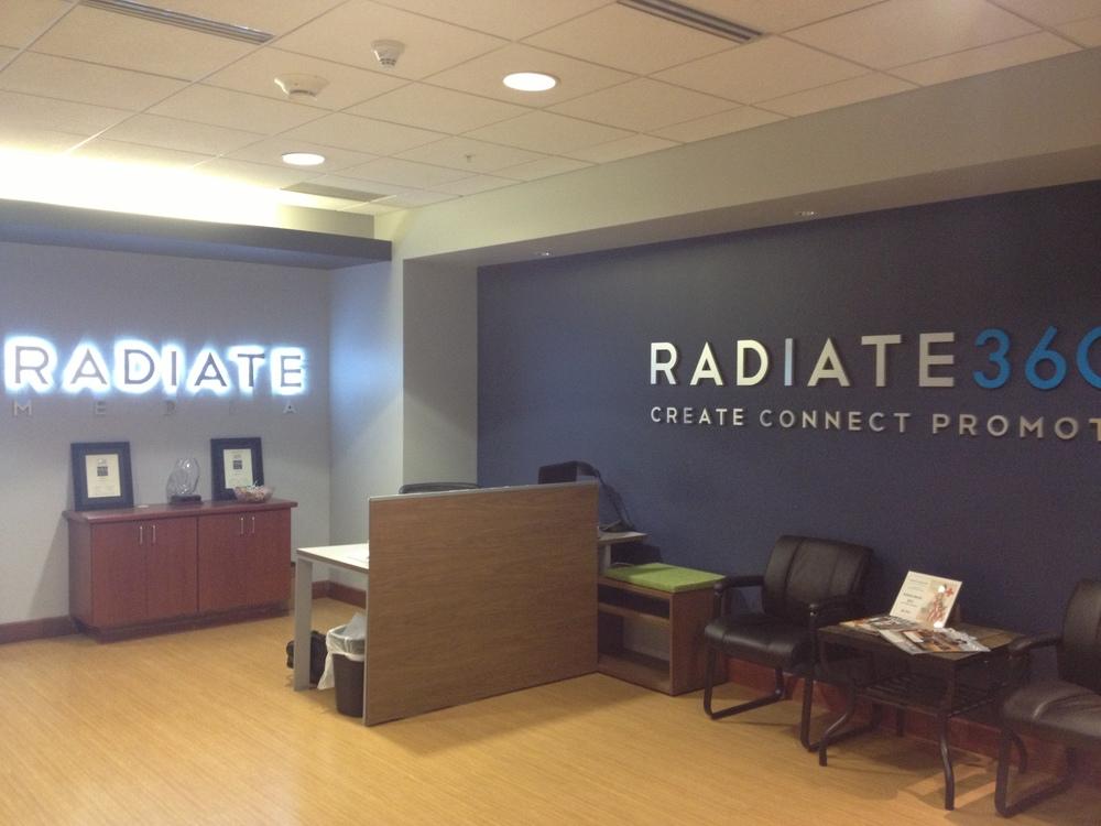 Lobby Signage, Radiate Media Office, Salt Lake City, UT