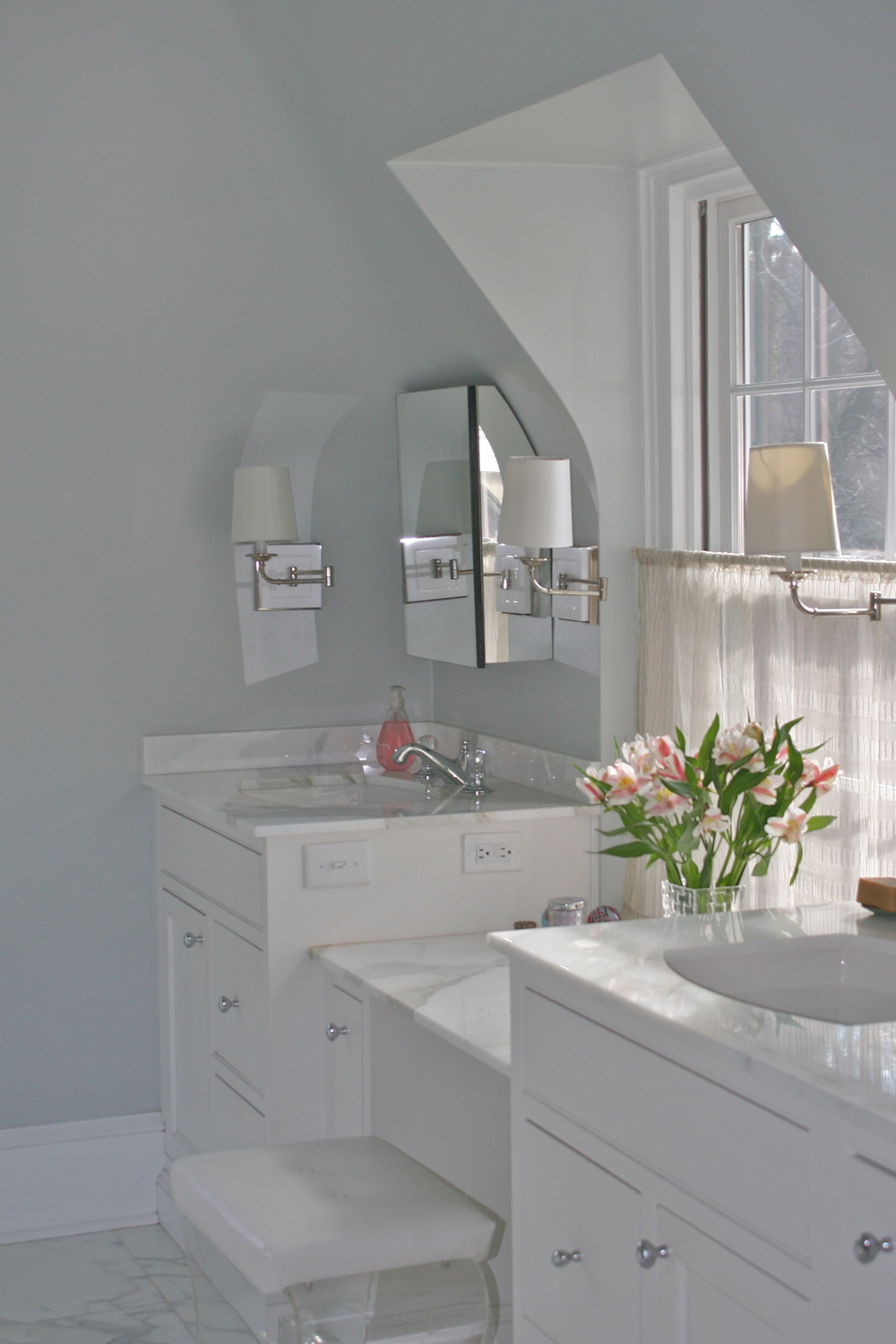 His and hers sinks and vanity
