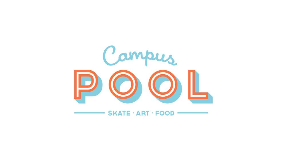 CAMPUS POOL LOGO   Text   Skate Art